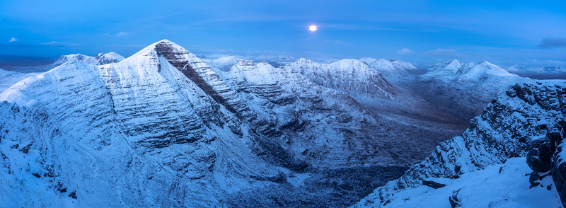 Moonrise on the top of Ben Alligin