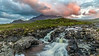 Sligachan Waterfalls - Marsco peak and the Red Hills