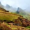 Quiraing Landscape and Fog