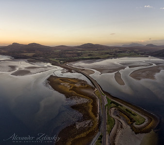 Kyle of Tongue and Ben Hope Mountain from Drone