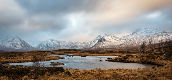 Sunrise at the Black mount in Rannoch Moor