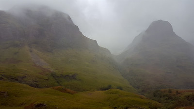 Misty Morning at Glen Coe Mountains