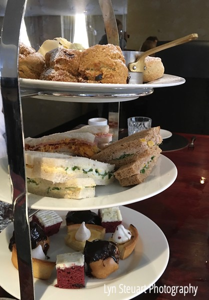 Delicious selections for afternoon tea at Colessio Hotel