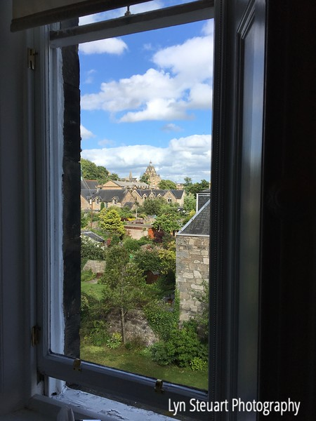 View from my room window at Victoria Square Guest House in Stirling