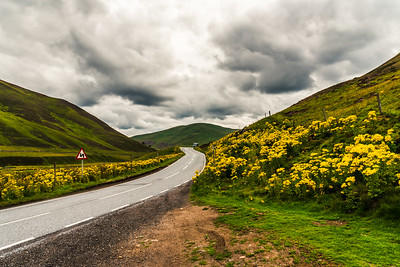 Scenic drive in The highlands of Scotland.