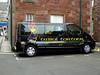 North Berwick, Scotland. Want to rent a kilt?  Here's your mobile kilt-hiring van.