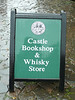Of course, books and whiskey ... sold at the castle gift shop.  Naturally.
