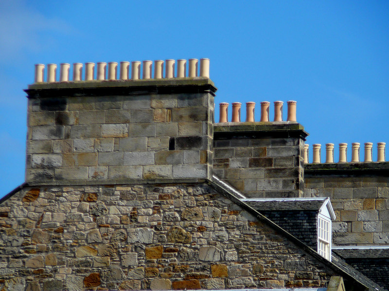Love the rhythm of those chimney pots in St. Andrews.