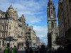 The Royal Mile: from Edinburgh Castle to Holyrood Palace.