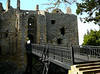 Dirleton Castle and Gardens, Dirleton, Scotland. This is the former drawbridge.  The moat is dry, now.  Surrounding gardens are beautiful.