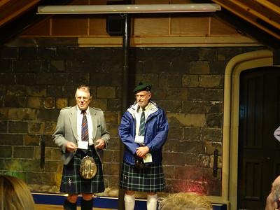 Mugdock Castle - Chieftain Richard Graham and Treasurer Bob Nethery