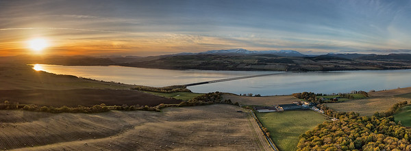 Autumn sunset over the Cromarty Firth