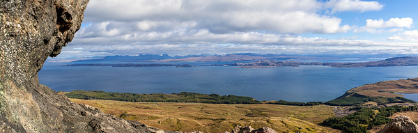 The panoramic view from the Old Man of Storr