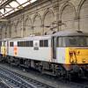 86632 'Brookside' in Railfreight Distribution grey livery, at Edinburgh Waverley on 14 September,1991