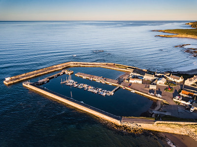 Hopeman Harbour from the air
