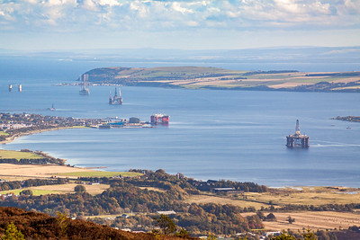 The view over the Cromarty Firth from Fyrish Hill