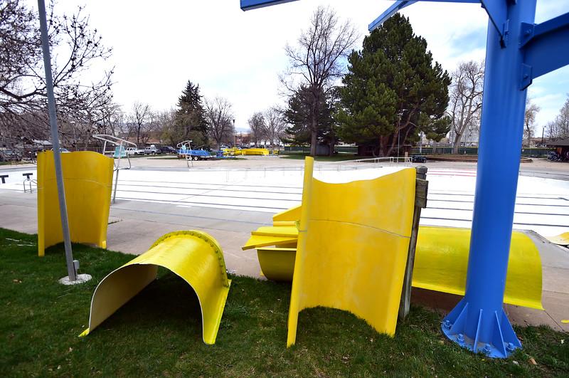 Scott Carpenter Pool Slide Comes Down