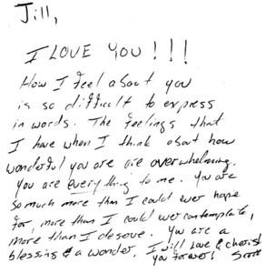Scott & Jill - Letters, LoveNotes ,Etc.