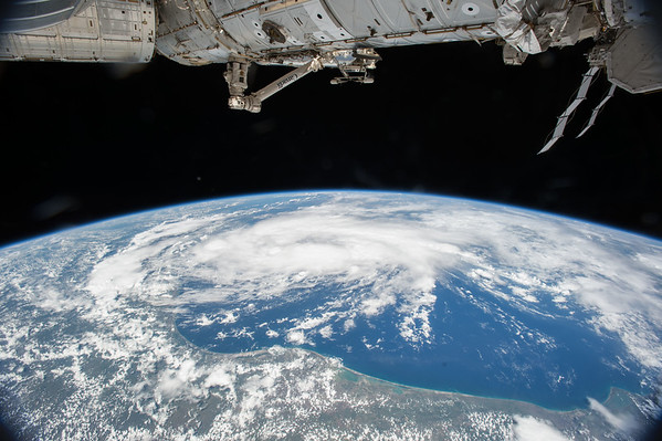 Tropical Storm #Bill from @space_station. Concerned for all in its path including family, friends & colleagues. #txwx