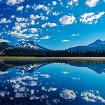 Sparks Lake - South Sister Mountain and Broken Top Mountain