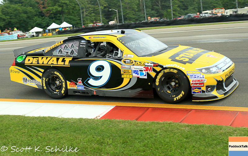 2012 Watkins Glen - NASCAR Sprint Cup winner Marcos Ambrose and his No. 9 Stanley Ford.