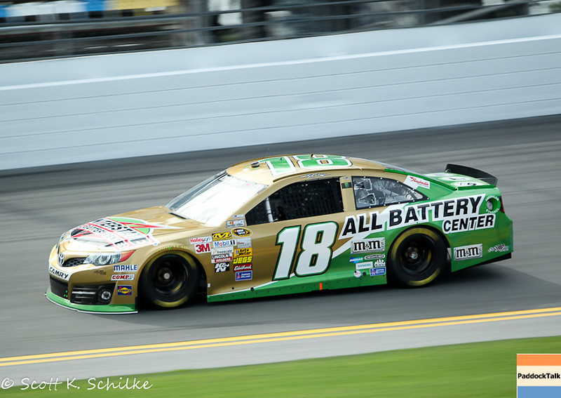 Kyle Busch and his No. 18 Toyota took the Pole for the NASCAR Sprint Cup 2013 Coke Zero 400.