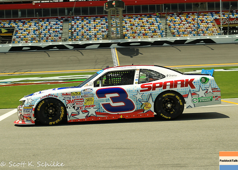 Austin Dillon and his No. 3 have taken the Pole at Daytona International Speedway for the NASCAR Nationwide race.