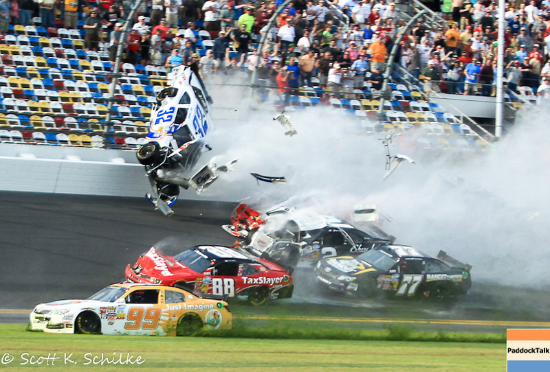 2013 NASCAR Nationwide last lap crash.