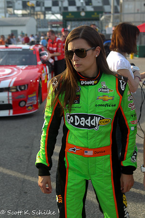 February 23: Nascar Nationwide COPD 300 the driver #34 Danica Patrick GoDaddy.com Chevrolet after time trials at Daytona International Speedway.