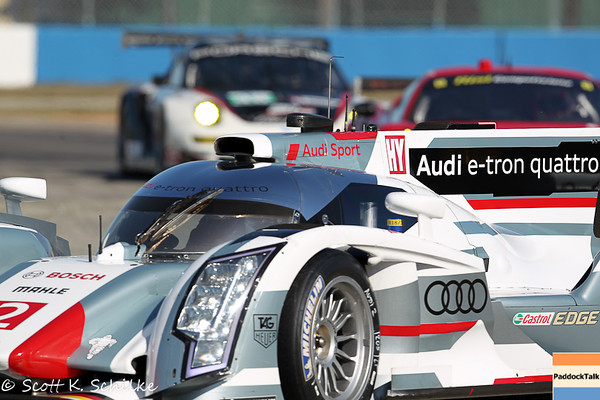 March 14, 12 Hours of Sebring first lap practice crash of the #2 Audi R-18 e-tron quattro of Lucas di Grassi, Tom Kristensen and Alan McNish on thursday morning practice #1.