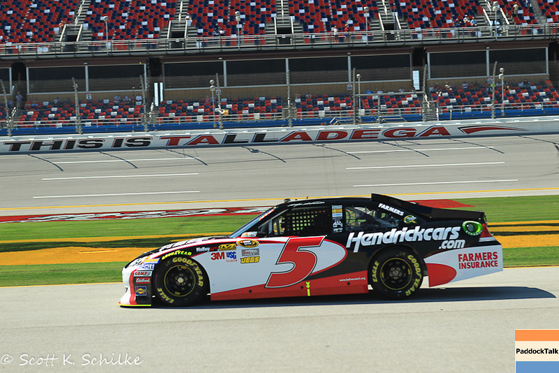 Kasey Kahne and his No. 5 Chevrolet takes NASCAR Sprint Cup Pole at Talladega II.