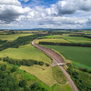The new Borders Railway. Scene shows rail track, towards the south, at Borthwick.