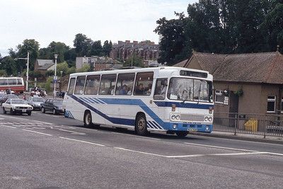 Bus and Coach Rental Dennistoun RCS701R Whitesands Dumfries Jul 91
