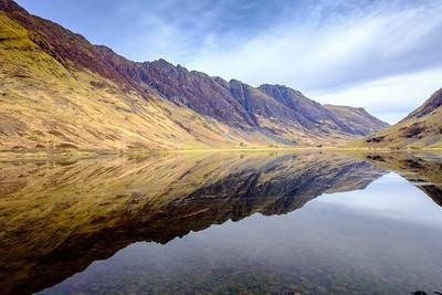 Loch Achtriochtan with Aonach Eagach ridge