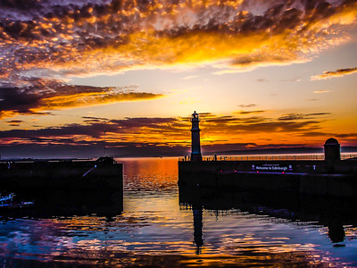Newhaven Sunset  Edinburgh