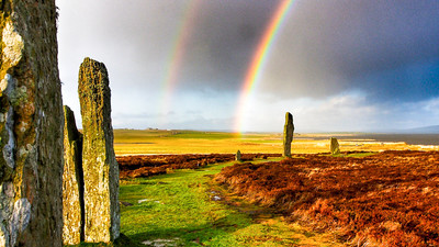 Rainbow over Ring of Brodgar Orknay