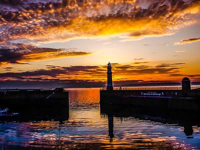 Newhaven Sunset  Edinburgh