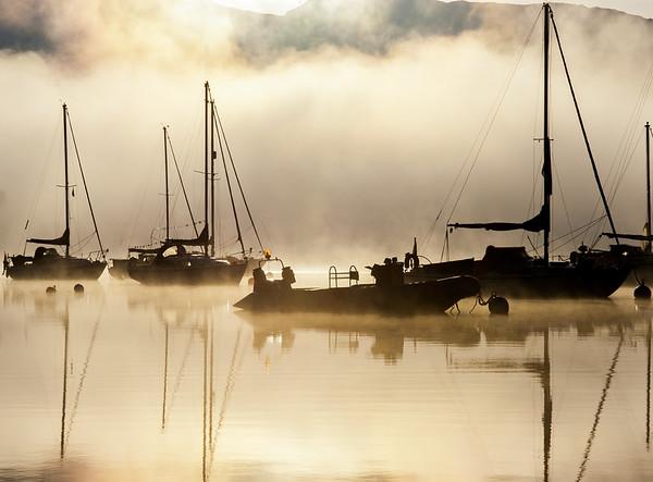Misty morning on Loch Ness