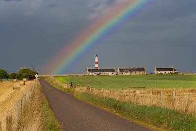 Rainbow over Tarbat Ness Lighthouse