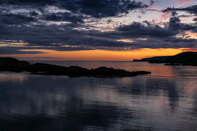 Sunset over Scourie Bay