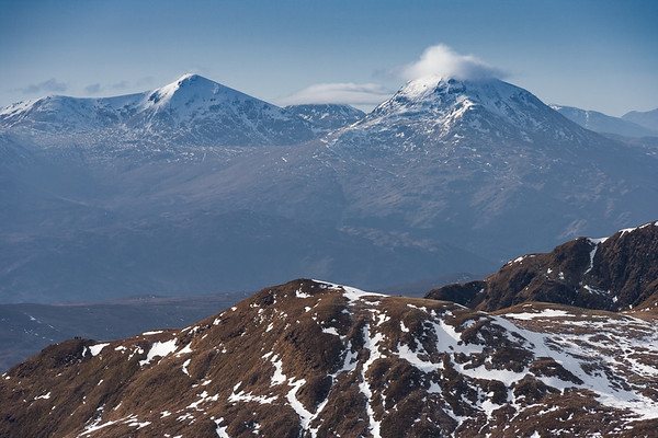 Stob Binnein and Ben More from Meall Corranaich