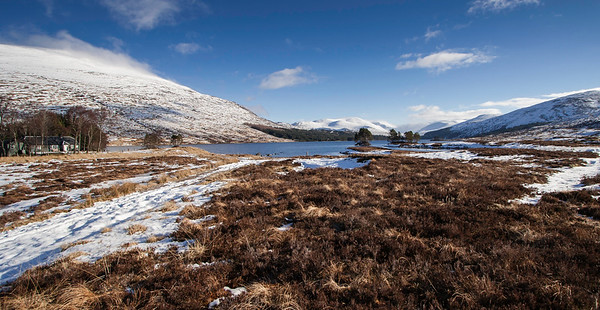 Loch Ossian and the Youth Hostel