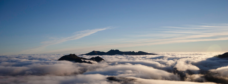 Morning Inversion over An Teallach and Beinn Dearg Mor