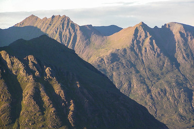 Evening light over An Teallach
