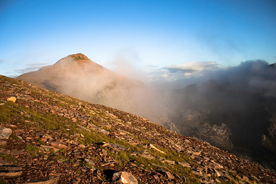 Misty Approach to Ruadh Stac Mor