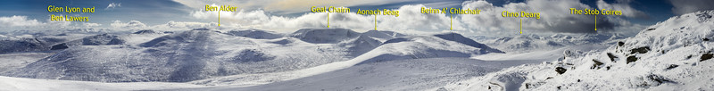 The Panoramic View from Geal Charn