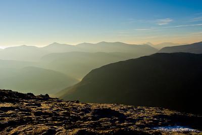 Winter morning light and the Glen Strathfarrar hills