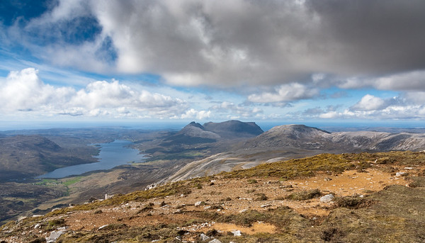Loch Assynt and Quinag from Ben More Assynt