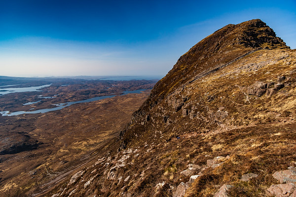 Looking towards the main summit of Suilven