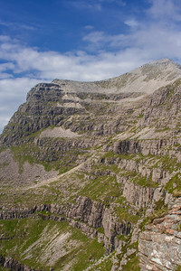 The ascent of Liathach